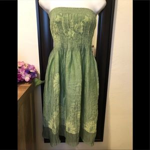 Lapis sage colored dress/skirt. One size.